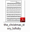 The Christmas Story Lulluby Sheet Music